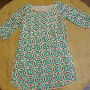 Womens Pink Blush Polyester Pattern Dress